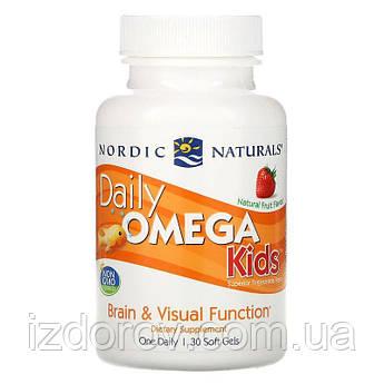 Nordic Naturals, Омега 3 для детей от 3 лет, фруктовый вкус, 500 мг, 30 жевательных капсул