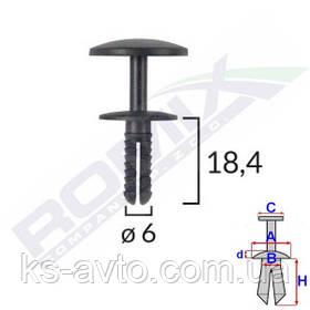Кілочок розпірний універсальний (відп.6мм, капелюшок 17мм)