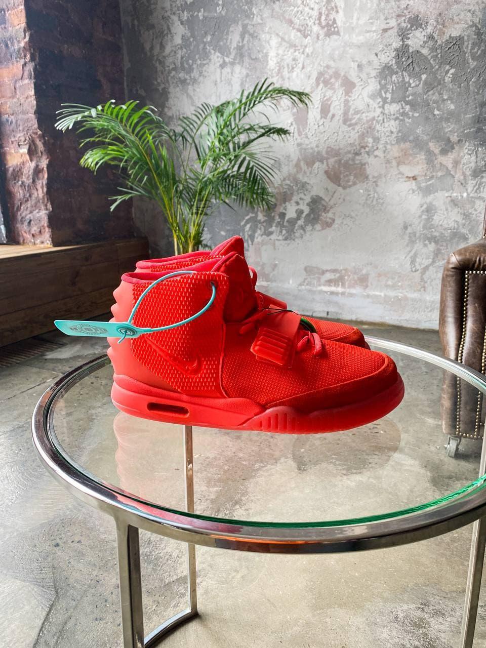 Кроссовки мужские Nike Air Yeezy 2 SP Red october красные. Стильные мужские кроссовки Найк красного цвета.