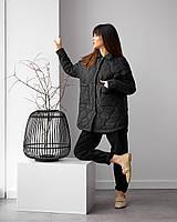 Жіноча утеплена куртка-сорочка на утеплювачі підійде з 42 по 52 розмір