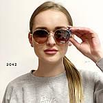 Стильные солнцезащитные очки с розово-коричневой линзой, фото 2