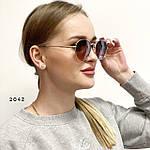 Стильные солнцезащитные очки с розово-коричневой линзой, фото 3