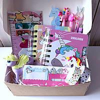 Подарочный набор канцелярии Единорог Розовый M