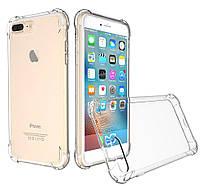 Чехол для iPhone 7 Plus, бесцветный, ударопрочный прозрачный силикон