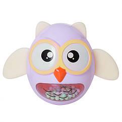 Игрушка-неваляшка G-A027 сова (Фиолетовая)
