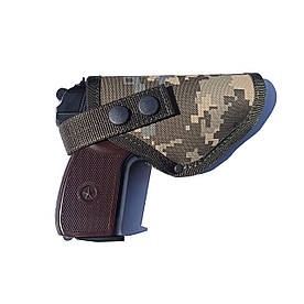Кобура поясная для пистолета Макарова со скобой для скрытого ношения Пиксель
