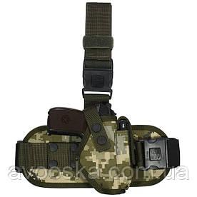 Кобура тактическая набедренная для пистолета Макарова Пиксель.