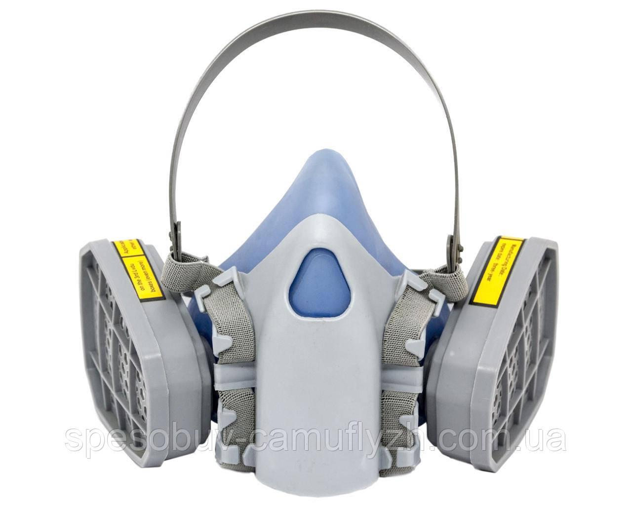 Респіратор маска Хімік-2 з двома фільтрами А1 (аналог 3М 7500) клас захисту FFP2
