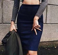 Женская классическая юбка чуть выше колен на высокой посадке 9 цветов