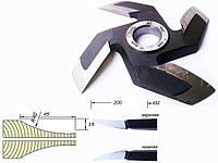 Фрезы напаянные пластинами Р6М5,  для изготовления филенки дверей.