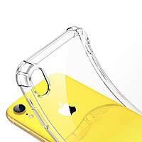 Чехол для iPhone XR, бесцветный, ударопрочный, прозрачный, силикон