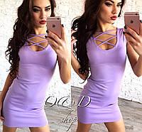 Женское соблазнительное платье мини со шнуровкой на груди