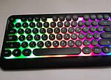 Клавиатура игровая с подсветкой радуга проводная M300 The Rertro Punk Keybord, фото 6