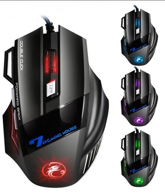Геймерская оптическая мышь iMICE X7 с LED подсветкой 3200 dpi / Компьютерная игровая мышка