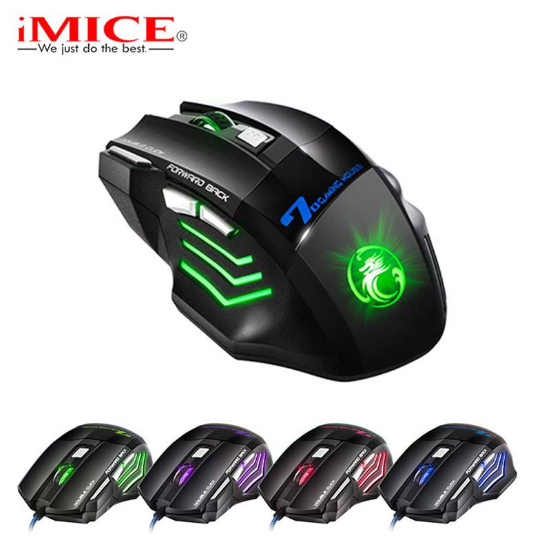 Игровая мышка IMICE X7 3200 dpi LED подсветка Gaming USB 2.0 геймерская и компьютерная
