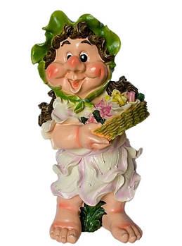 Садова фігура ГНОМ Дівчинка з квітами