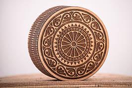 Коробка кругла подарункова з логотипом компанії 100х100х50 tty-f000023