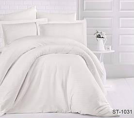 Комплект постельного белья полуторный страйп-сатин LUXURY ST-1031