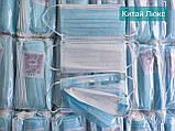 ОРИГІНАЛЬНІ медичні маски тришарові з фільтром мельтблаун, фіксатором Китай/Україна, фото 3
