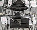 ОРИГІНАЛЬНІ медичні маски тришарові з фільтром мельтблаун, фіксатором Китай/Україна, фото 8