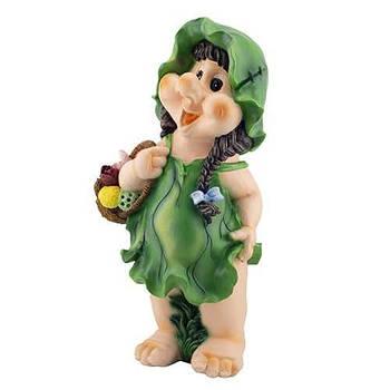 Садова фігура ГНОМ Дівчинка з кошиком 3