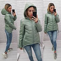 Новинка 2021! Модная, удобная куртка парка, арт. 210, цвет шалфей