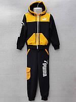 """Спортивний костюм дитячий для хлопчика """"Puma"""" 0-4 років Жовтий"""