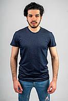 Мужская футболка из лакосты синяя