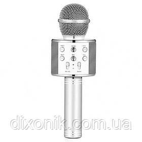 Безпровідний мікрофон для караоке Wester WS-858 з динаміком та блютуз