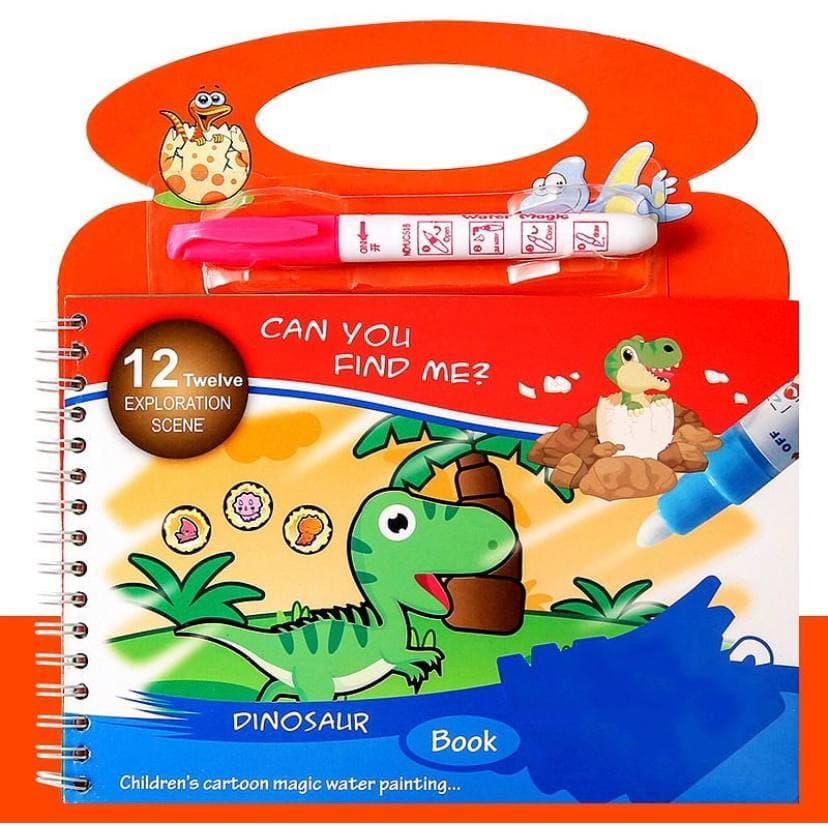 """Багаторазові водні розмальовки """"Динозаври"""""""