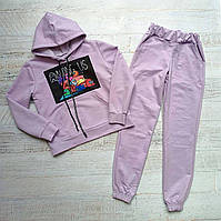 """Спортивный костюм детский для девочки""""Among US"""" 128-152 см Фиолетовый"""