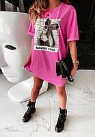 """Стильное модное летнее молодежное платье футболка туника """"Dangerous Women"""" - С, М, Л, ХЛ, три цвета"""