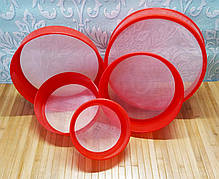 Сита пластикові для борошна набір з 5 штук   Набор пластиковых сит  Round Strainer, 5 шт  