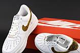 Кросівки чоловічі Nike Air Force 1 Low Retro Premium QS Ivory Snake в стилі найк форси Білі (Репліка ААА+), фото 6