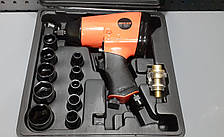 Гайковерт пневматический 1/2 набор с ударными головками 350N/m;7000об/мин. AEROPRO RP7808, фото 3