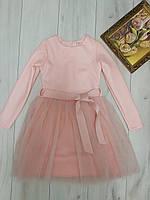 Детское нарядное платье для девочки с фатином 7-10 лет, цвет уточняйте при заказе