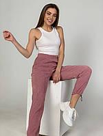 Жіночі стильні вельветові штани на затягуваннях