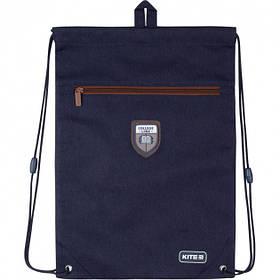 Сумка для обуви с карманом Kite Education College Line 46x33 см Синяя (K20-601M-4)