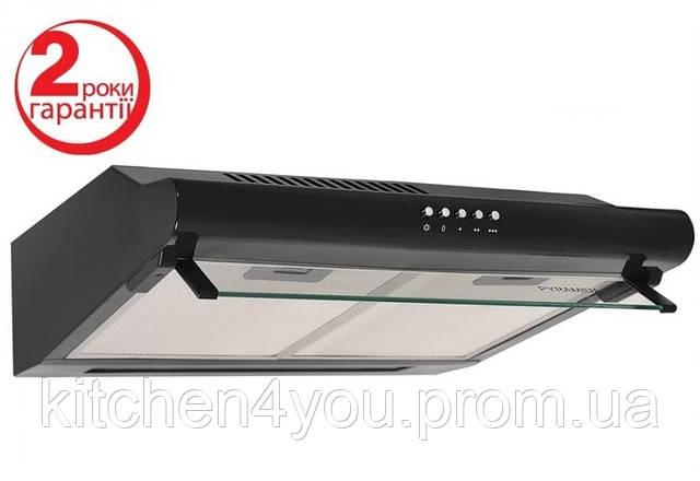 Вытяжка кухонная плоская Pyramida WH 20-60 black (600 мм.) черная эмаль
