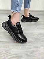 Жіночі кросівки об'єднані чорного кольору, фото 1