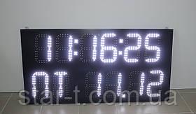 Многофункциональное табло (часы, день недели, календарь, термометр), 1200х600мм.