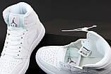 Кросівки жіночі Nike Air Jordan 1 Low WHITE у стилі найк джордан Білі (Репліка ААА+), фото 5
