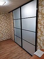 Межкомнатная перегородка с матовым стеклом, фото 1