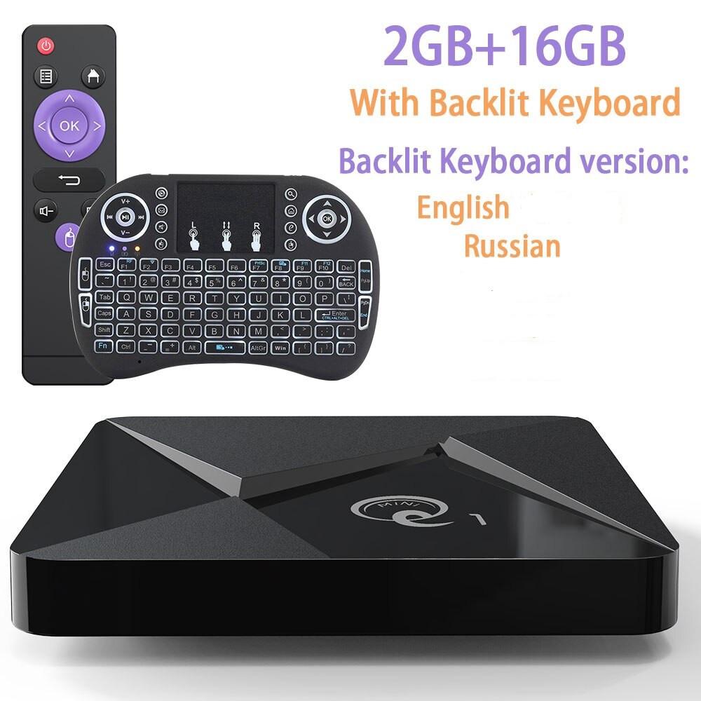 Смарт ТВ-приставка 2 /16 Гб Q1 Ultra HD SmartTV Андроїд Android TV box 4K + клавіатура