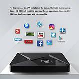 Смарт ТВ-приставка 2 /16 Гб Q1 Ultra HD SmartTV Андроїд Android TV box 4K + клавіатура, фото 4