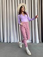 Жіночі стильні вельветові штани на манжетах