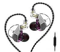 Проводные гибридные HiFi наушники TRN ST1 c микрофоном Purple (Гарнитура TRN ST1)