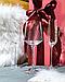 Прозрачный бокал DS Transparent Turquoise с золотой каемкой для шампанского 250 мл, фото 2