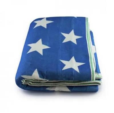 Электропростынь согревающая простынь электрическая с сумкой Electric blanket 150120 белая звезда на синем фоне