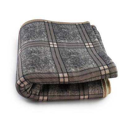 Электропростынь согревающая простынь электрическая с сумкой Electric blanket 150170 клетчатый серый 183405
